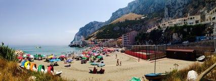 De mening van de rotseastside van Gibraltar Stock Foto's
