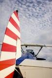 De mening van de staart van het vliegtuig van Bi Royalty-vrije Stock Fotografie
