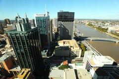De mening van de Stad en van de Rivier van Brisbane Stock Afbeelding