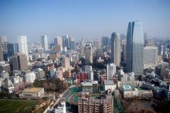 De mening van de stad, Tokyo, Japan stock foto