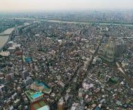 De mening van de stad van de binnenstad vanaf de bovenkant royalty-vrije stock foto's
