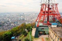 De Mening van de stad van de Toren van Seoel royalty-vrije stock fotografie