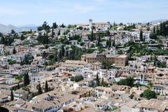 De mening van de stad van Granada Royalty-vrije Stock Afbeeldingen