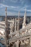 De mening van de stad van Milaan, Italië Stock Afbeeldingen