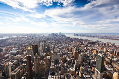 De Mening van de Stad van New York Stock Foto