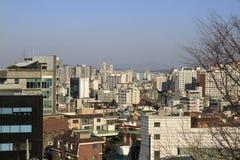 De Mening van de stad van Seoel Korea Royalty-vrije Stock Fotografie