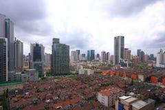 De mening van de stad van Shanghai Royalty-vrije Stock Foto's