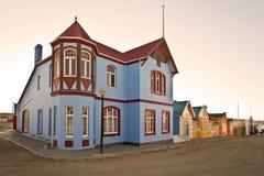 De mening van de straat, Lüderitz, Namibië, Afrika Royalty-vrije Stock Foto's