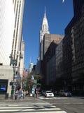 De Mening van de Straat van New York royalty-vrije stock afbeelding