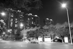 De mening van de straatnacht Stock Afbeeldingen