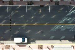 De mening van de straatweg van hierboven Stock Fotografie