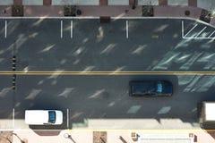 De mening van de straatweg van hierboven Stock Foto