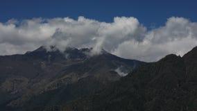 De mening van de tijdtijdspanne van Annapurna stock video