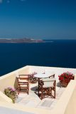 De mening van de vakantie van het balkon Stock Afbeelding