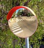 De Mening van de verkeersspiegel Stock Afbeeldingen