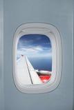 De mening van de vlucht uit het Vliegtuig Royalty-vrije Stock Foto