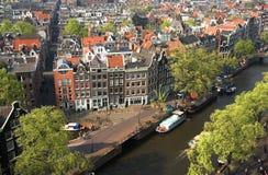 De mening van de vogel van Amsterdam Royalty-vrije Stock Foto
