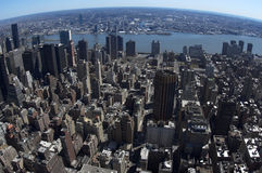 De mening van de vogel van oostelijk Manhattan royalty-vrije stock foto
