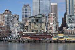 De Mening van de waterkant, Seattle, Washington Stock Afbeeldingen