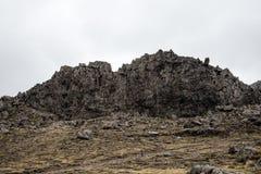 De mening van de weidenmuur in het Nationale Park van Tongariro Royalty-vrije Stock Fotografie