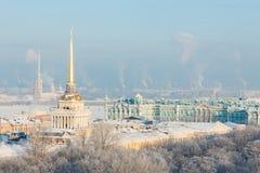 De Mening van de winter van St. Petersburg Royalty-vrije Stock Afbeeldingen
