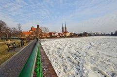 De Mening van de winter van Wroclaw Royalty-vrije Stock Fotografie