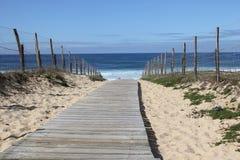 De mening van de zomer van een Frans strand Royalty-vrije Stock Foto's