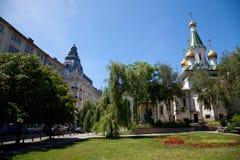 De mening van de zomer van Sofia, Bulgarije Royalty-vrije Stock Afbeeldingen