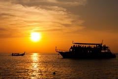 De mening van de zonsondergang over het overzees Royalty-vrije Stock Fotografie