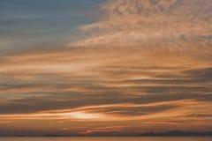 De mening van de zonsondergang in Thailand Stock Afbeeldingen