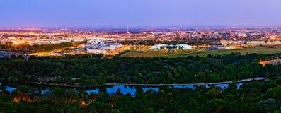De mening van de zonsopgang over Canceropole, Toulouse, Frankrijk Royalty-vrije Stock Afbeelding