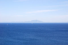 De mening van de Zwarte Zee in Bodrum Stock Fotografie