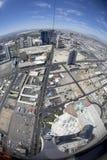 De mening van Fisheye van Las Vegas Stock Foto's