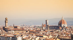 De mening van Florence Duomo royalty-vrije stock foto's