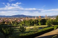 De mening van Florence van de tuin van Boboli royalty-vrije stock foto