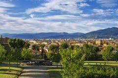 De mening van Florence van de tuin van Boboli stock fotografie