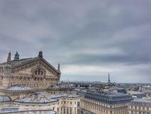 De mening van Galeries Lafayette Terace Parijs stock foto's