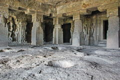 De mening van GarbhaGriha, holt Nr 14, Ellora Caves, India uit Royalty-vrije Stock Fotografie