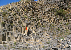 De mening van Garni-basaltcanion in Armenië Royalty-vrije Stock Foto