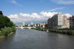 De mening van Generval in Grenoble stock fotografie