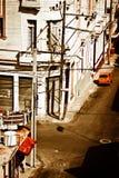 De mening van Grunge van Oud Havana Royalty-vrije Stock Foto's