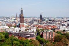 De mening van Hamburg, de Lente van 2008 Stock Fotografie
