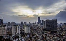 De mening van Hanoi van de hemel Stock Foto's