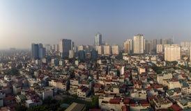 De mening van Hanoi van de hemel Royalty-vrije Stock Afbeelding