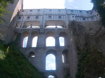 De mening van het Český Krumlov kasteel stock fotografie