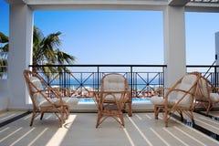 De mening van het balkon Stock Foto's