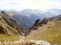 De mening van het bergketenlandschap in Griekenland Stock Foto's