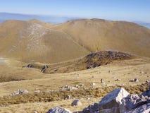 De mening van het bergketenlandschap in Griekenland Royalty-vrije Stock Afbeelding