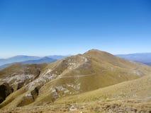 De mening van het bergketenlandschap in Griekenland Stock Foto