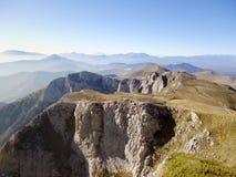 De mening van het bergketenlandschap in Griekenland Royalty-vrije Stock Afbeeldingen